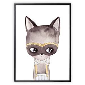 XO Posters Poster Cat With Mask 30x40 cm
