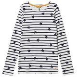 Tom Joule Falling Stars Harbor T-Shirt Cream/Navy 4 years