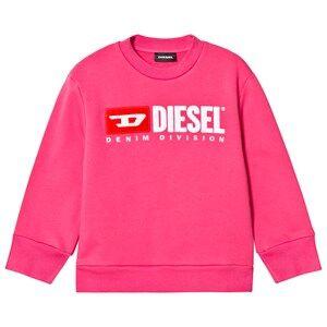 Diesel Pink Denim Division Logo Sweatshirt 16 years