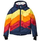 Perfect Moment Navy and Rainbow Chevron Superday Jacket 14 years