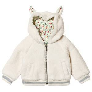 GAP Ivory Frost Floral Bunny Bomber Jacket 4 r