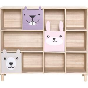 Bloomingville Nature and Pink Bookcase with Drawers
