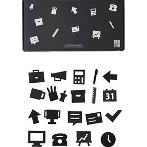 Design Letters Office Icons for Message Board Black (20 Pack)