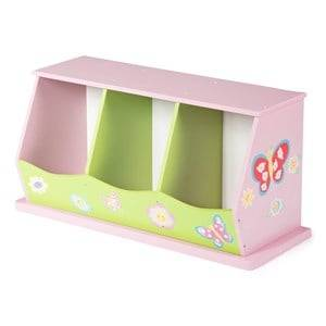 TH Furniture Cabinet with Three Bins Pink