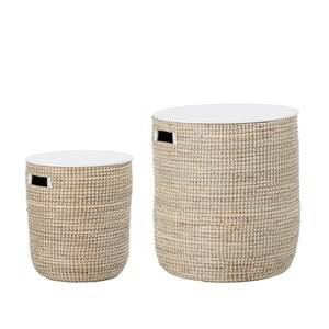 Bloomingville Nature Seagrass Basket with Lid 2-Pack