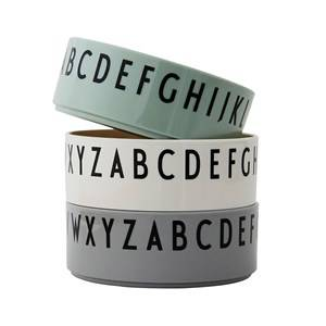 Design Letters 3-Pack A to Z Bowls Green
