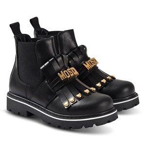 Moschino Kid-Teen Chelsea Boots Svart med Frynser 37 (UK 4)