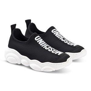 Moschino Kid-Teen Logo Slip-On Sneakers Black 33 (UK 1)