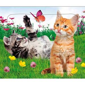 Egmont Krnan Cute Cats Puzzle with Frame 24 mnd - 4 r