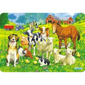 Egmont Krnan Farm Animals Puzzle with Frame 24 months - 5 years