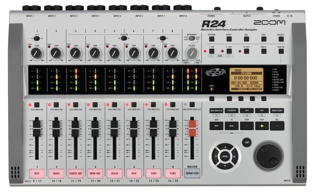 90 Zoom R24 harddisk-recorder / audio interface