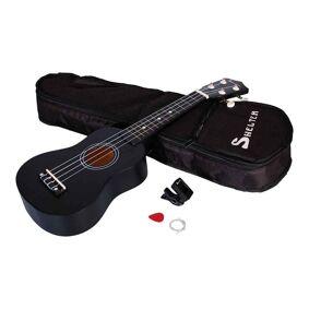 Shelter UK1S-BK ukulele, pakkeløsning sort