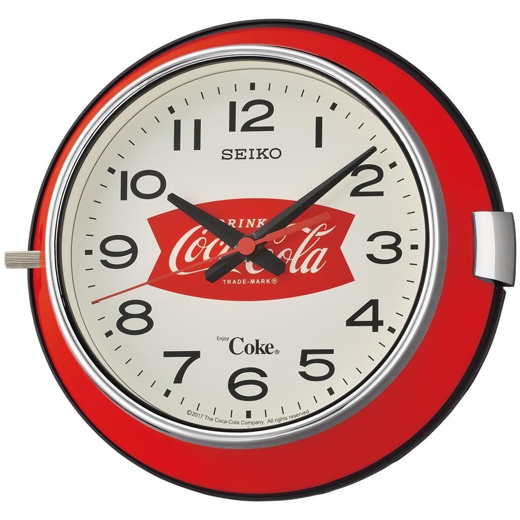 Seiko Coca-Cola Quiet Sweep Wall Clock QXA923R