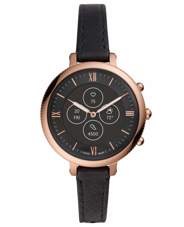 Fossil Hybrid Smartwatch HR Monroe Black Leather FTW7035