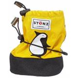 STONZ booties, penguin yellow