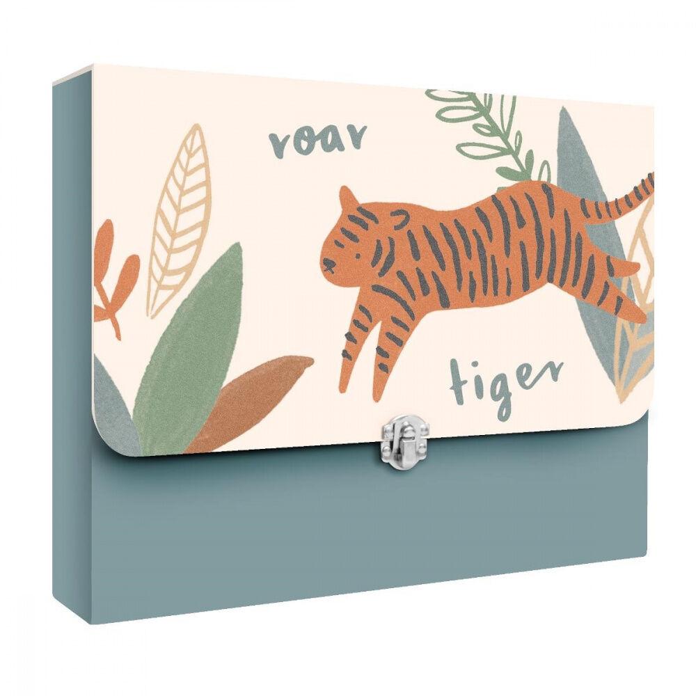 Sebra Mappe for oppbevaring av tegninger Wildlife eucalyptus blu