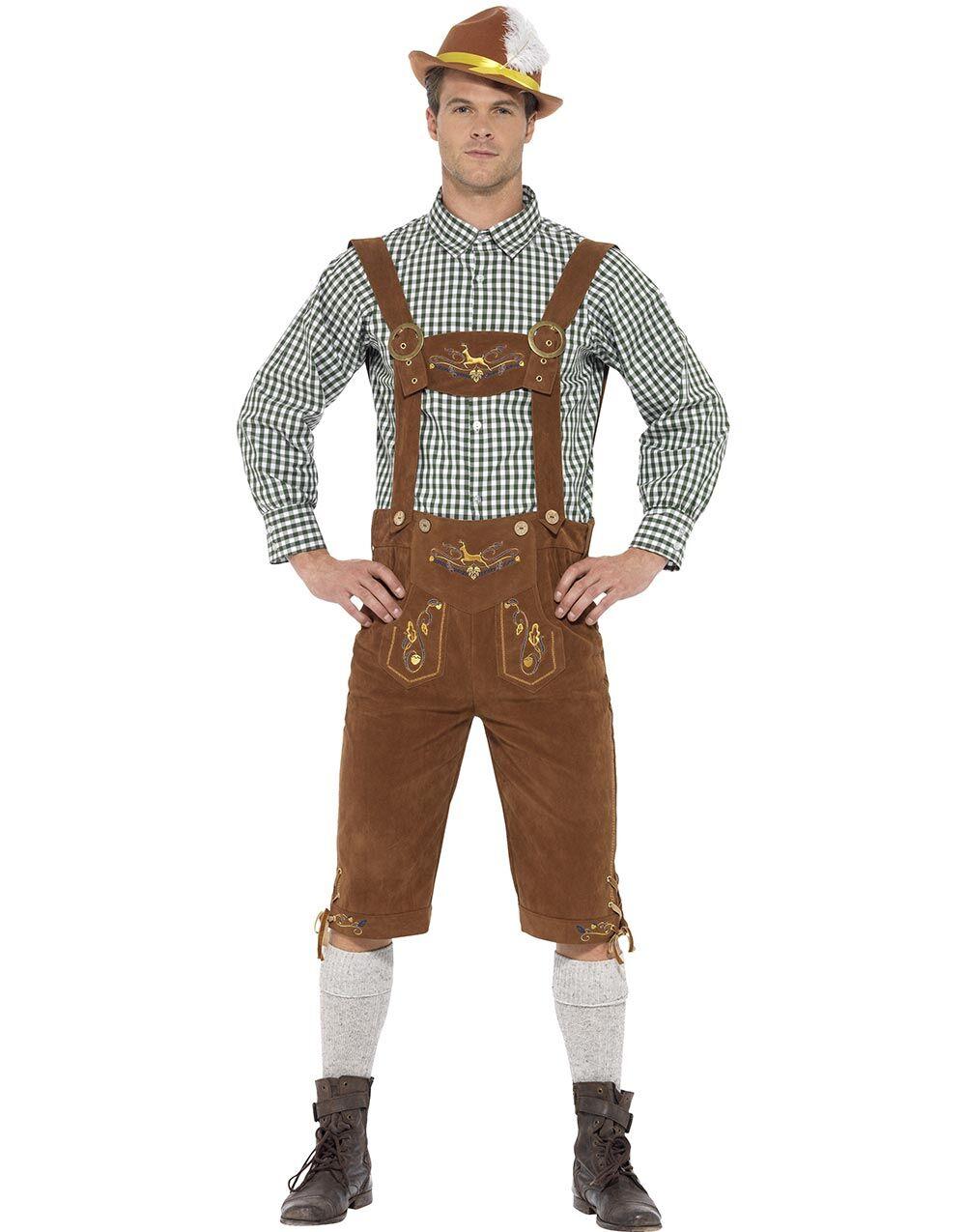 Tradisjonelt Brunt og Grønt Oktoberfest Luksuskostyme til Herre