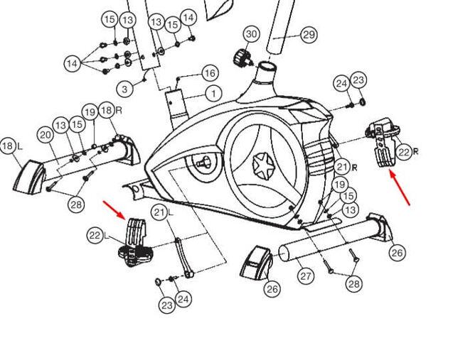 Christopeit Sport AL2 rem pedaler