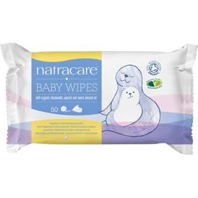 Natracare Baby Våtservietter 100% Bomuld - 50 Servietter