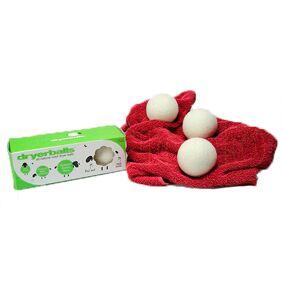 BRIX Dryerballs 100% Uld 3 Stk. Tørretumbling - 1 Pakker