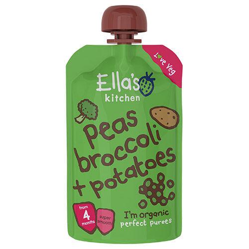 Ellas Kitchen Babymos Erter, Brokkoli & Poteter 4 mnd+ - 120 G