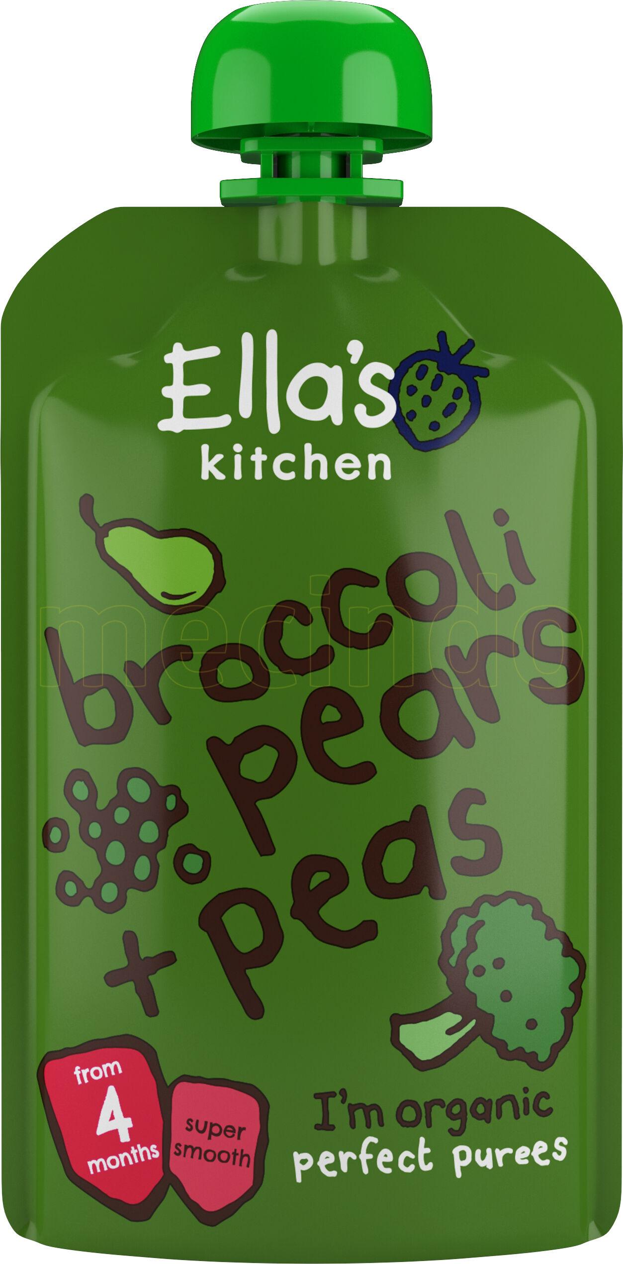Ellas Kitchen S1 Brokkoli, Pære & Erter 4 Mnd+ - 120 Gram