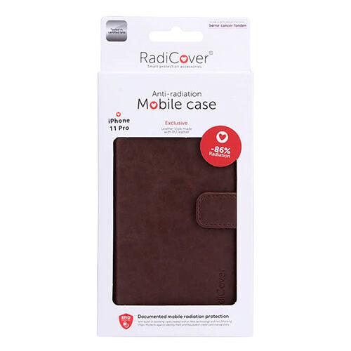 RadiCover Mobilcover Iphone 11 Pro Brun Antistråling Pu Læder - 1 stk