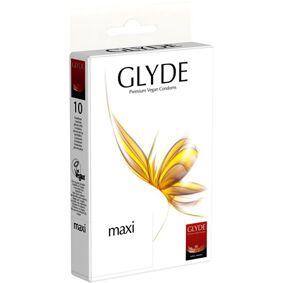 Glyde Kondomer maxi indh. 10 stk. L 190mm, B 56mm, Tykkelse 0,062mm - 1 Pakk
