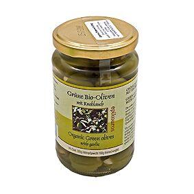 Rømer Oliven Grønne m. hvidløg Græsk Ø - 320 G