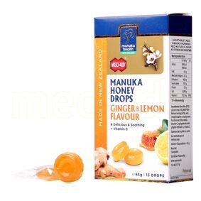 Manuka Health Manuka Honning Drops Ginger & Lemon - 65 G