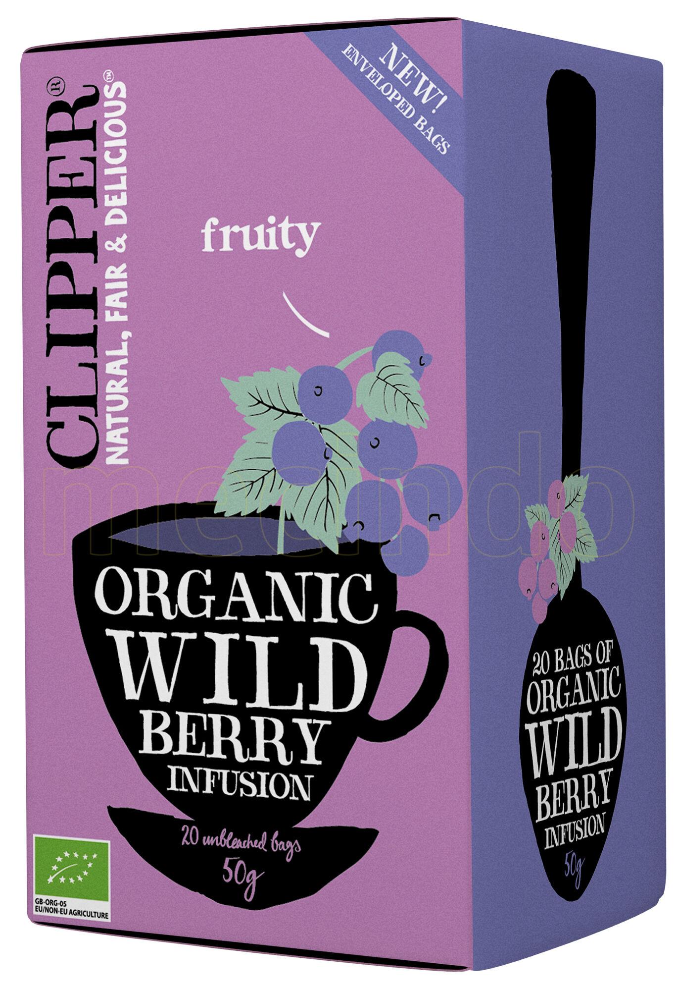 Clipper Wild Berry Te Ø - 20 Poser
