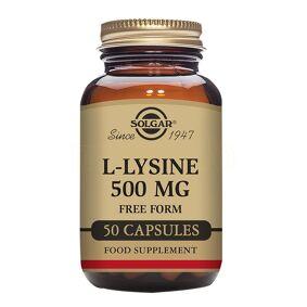 Solgar L-Lysin Aminosyre - 500 mg - 50 Kapsler
