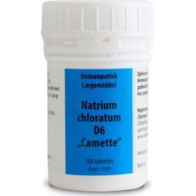 Camette Natrium chlor. D6 Cellesalt 8 - 200 Tabl