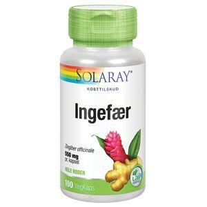 Solaray Ingefærrot - 550 mg - 100 Kaps