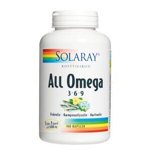 Solaray All Omega 3-6-9 - 180 Kaps