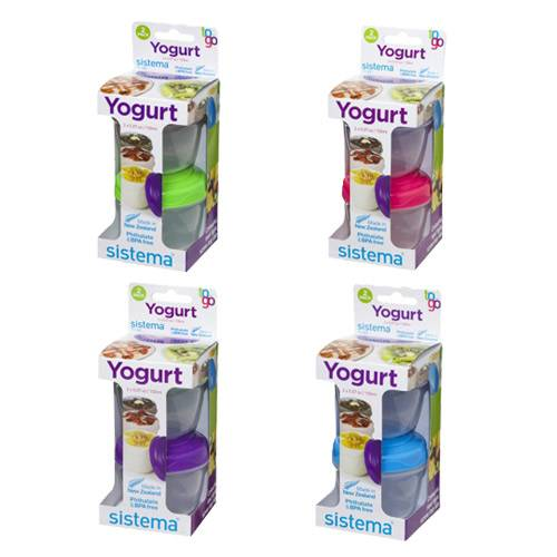 Sistema Yoghurt To Go 2-pack 2x150 Ml Lime, Blå, Lilla - 1 Pakk
