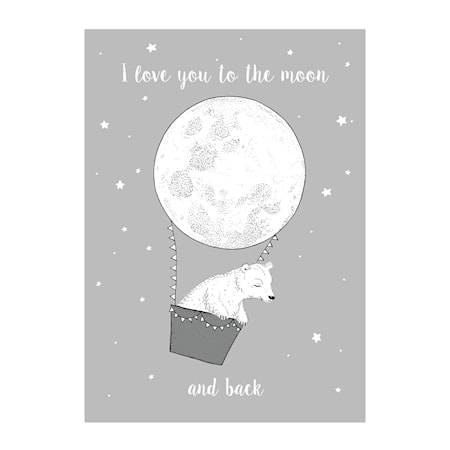 Bloomingville Poster Måne