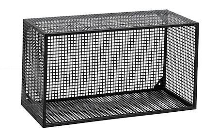 Nordal Wire vegghylle rektangulær - Svart