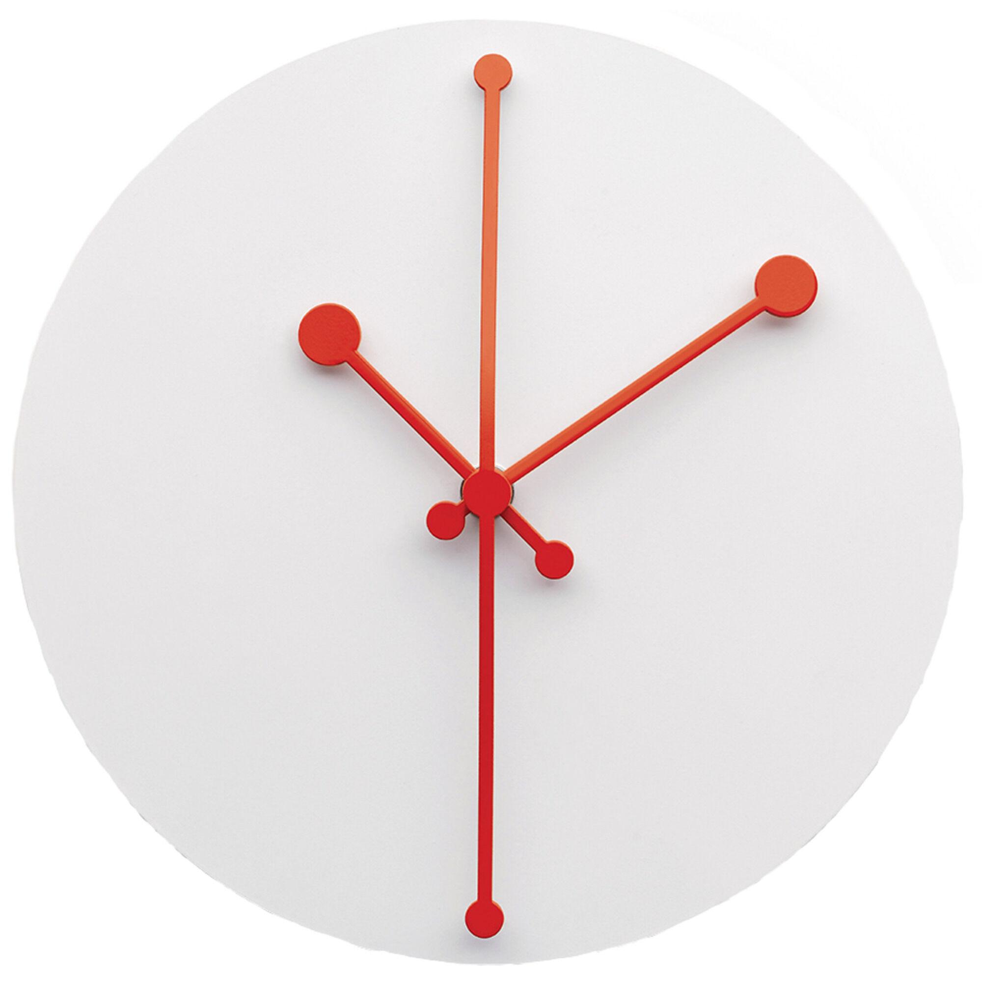 Alessi Dotty Clock Veggklokke Hvit