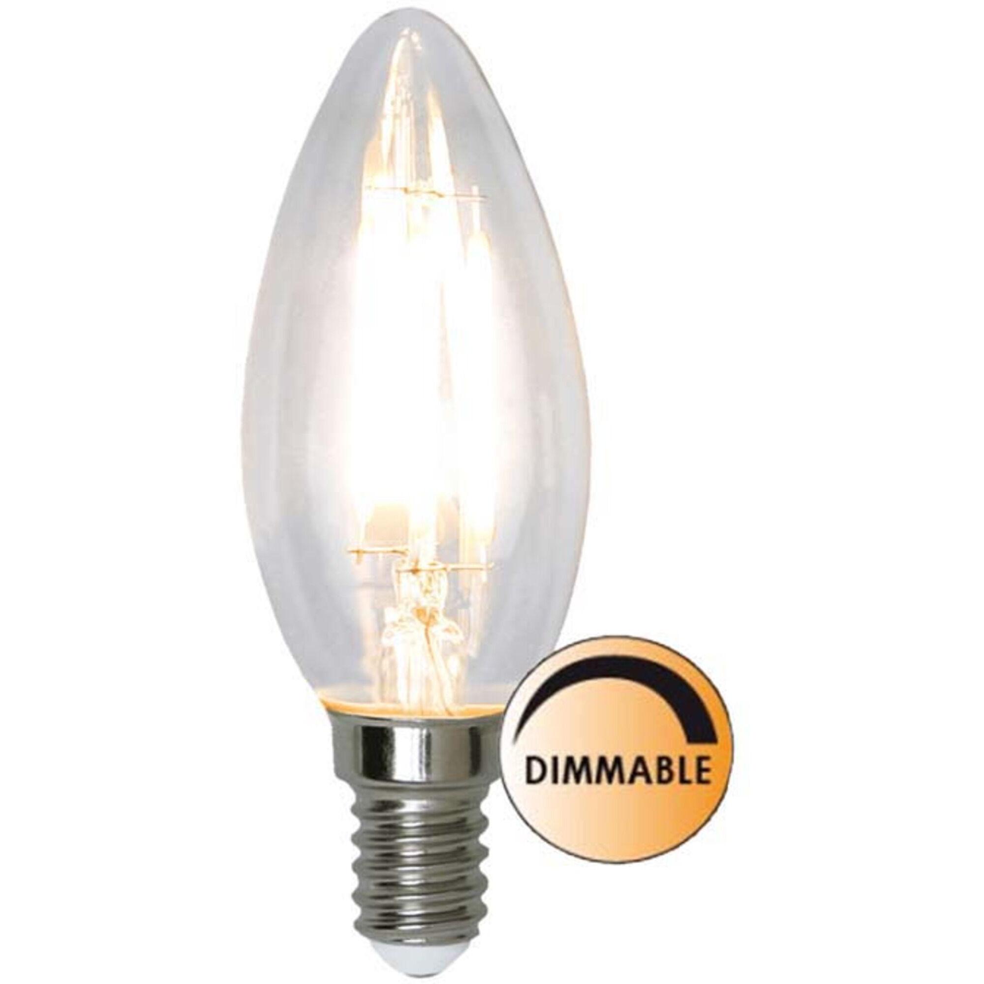 Globen Lighting Lyspære LED 351-03 Filament  Krom Klar 3,2W Dimbar E14