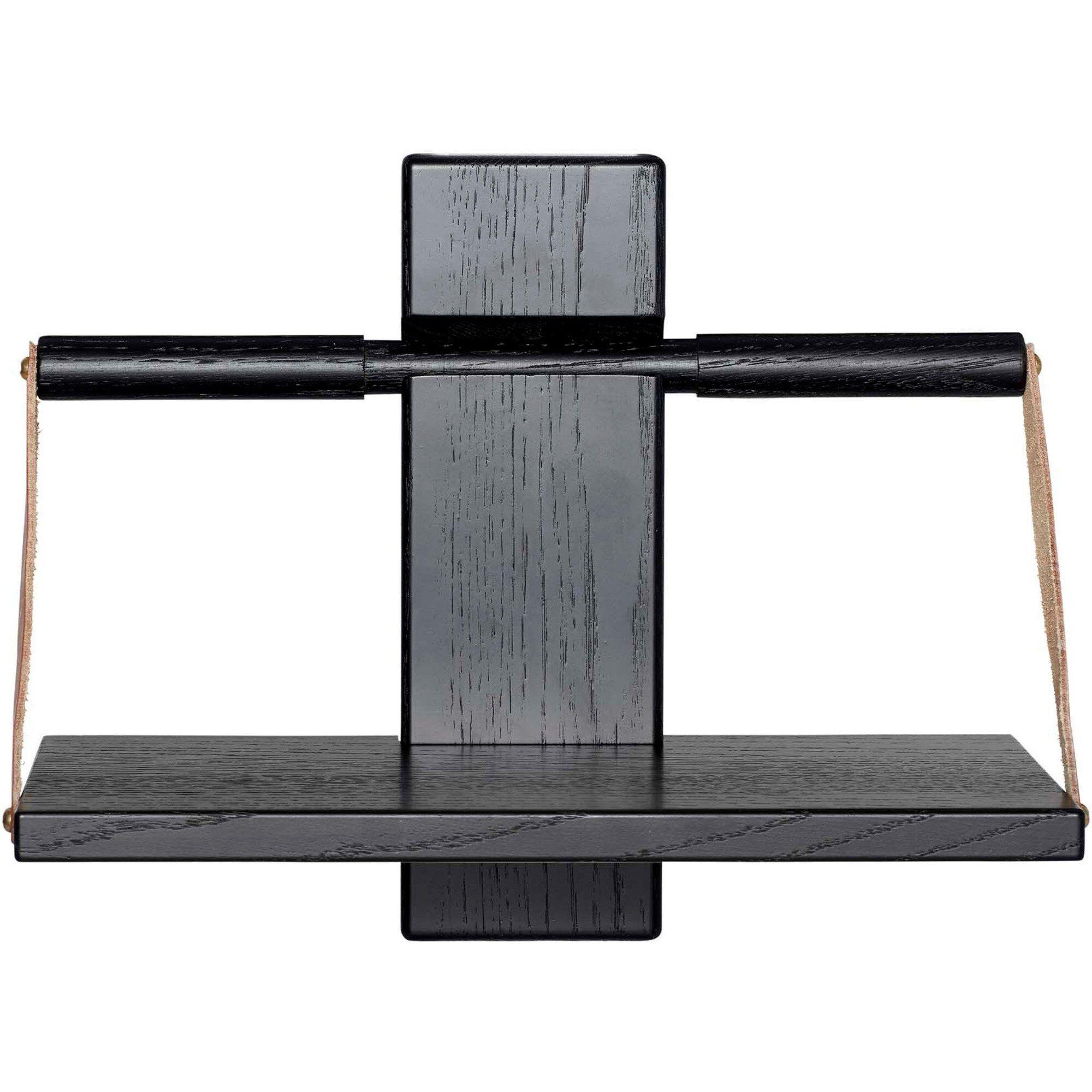 Andersen Furniture Wood wall Shelf 30 x 18 x 24 cm Liten Black