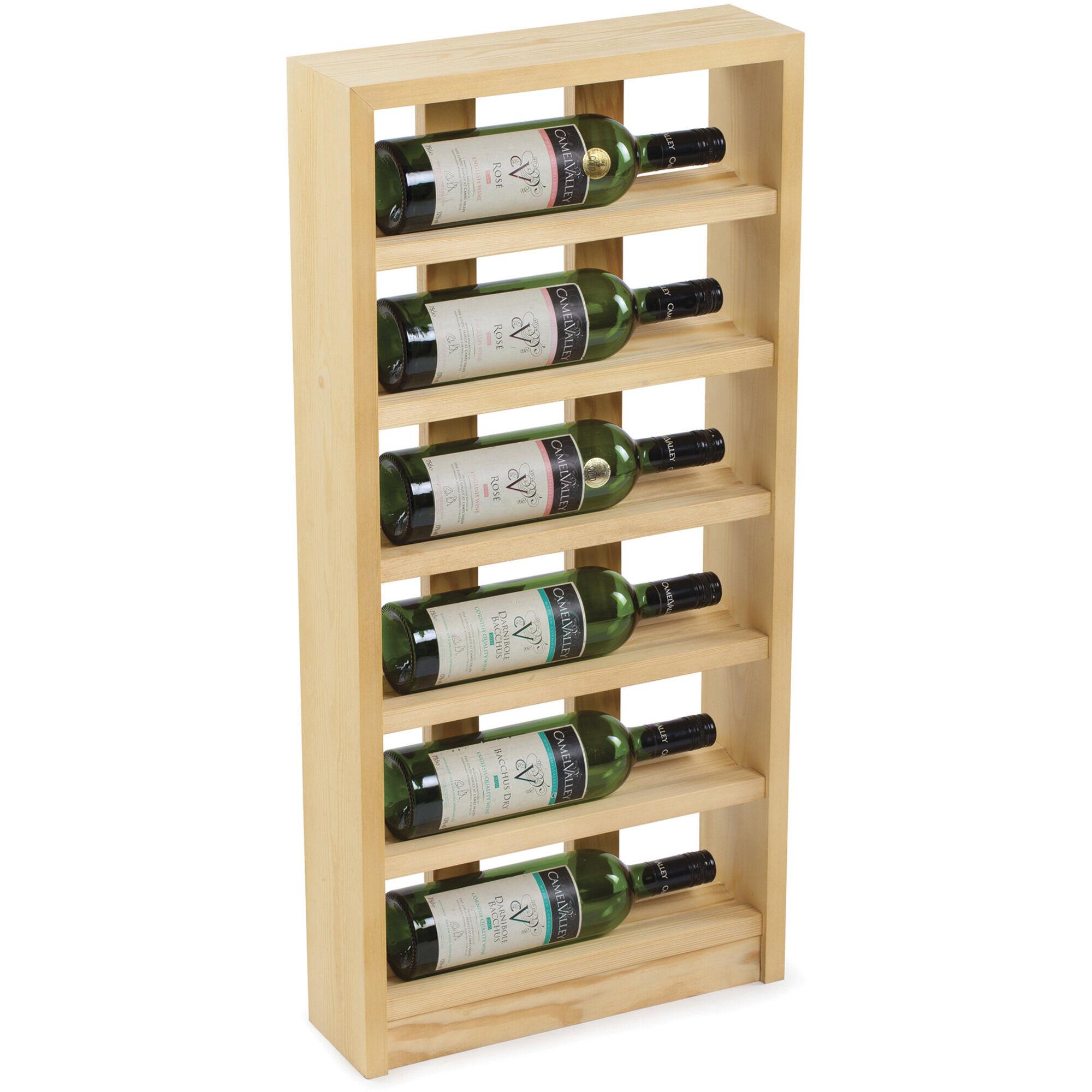 Traditional Wine Racks Vinstativ 6 flasker Light Oak