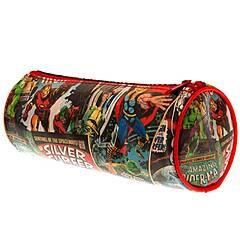 Marvel ‑ Stilig enkelt pennal med retro tegninger Iron Man med flere