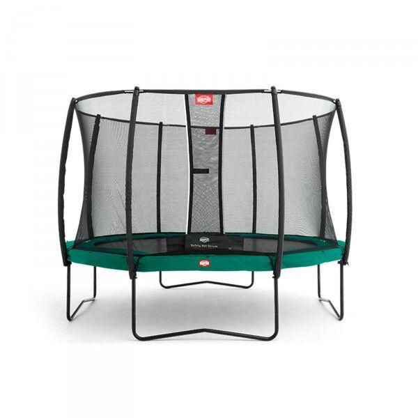 Berg hagetrampoline Champion inkl. sikkerhetsnett Deluxe 380cm grønn