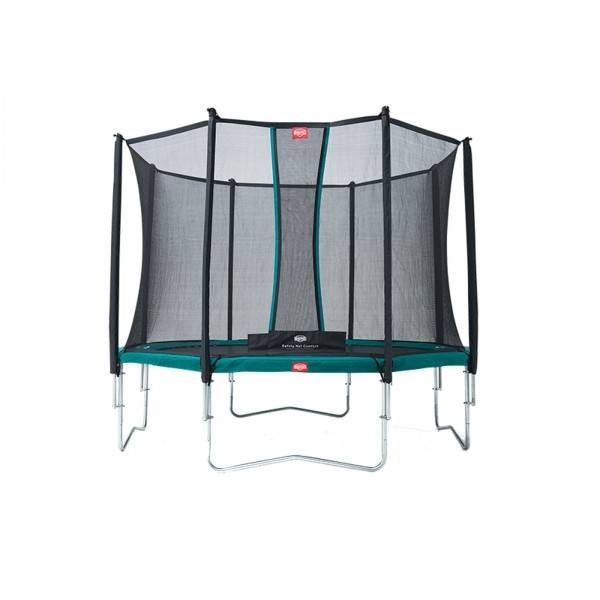 BergTrampoline Favorit inkl. sikkerhetsnett Comfort 330cm grün