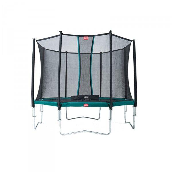 BergTrampoline Favorit inkl. sikkerhetsnett Comfort 380cm grå