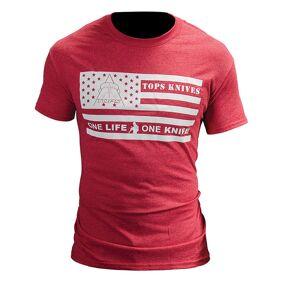 TOPS Knives TOPS T-Shirt Flag Logo Red XL