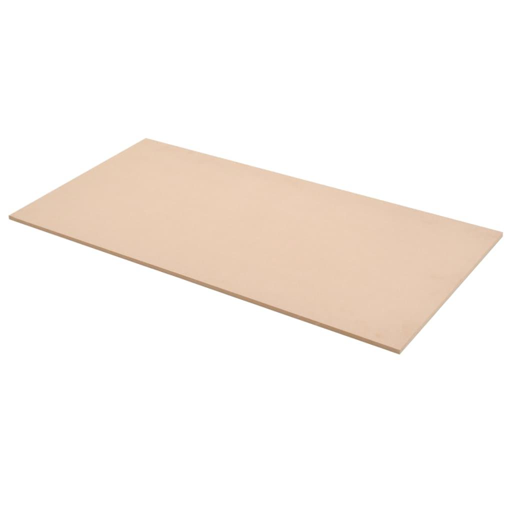 vidaXL Bordplater MDF 4 stk rektangulær 120x60 cm 12 mm