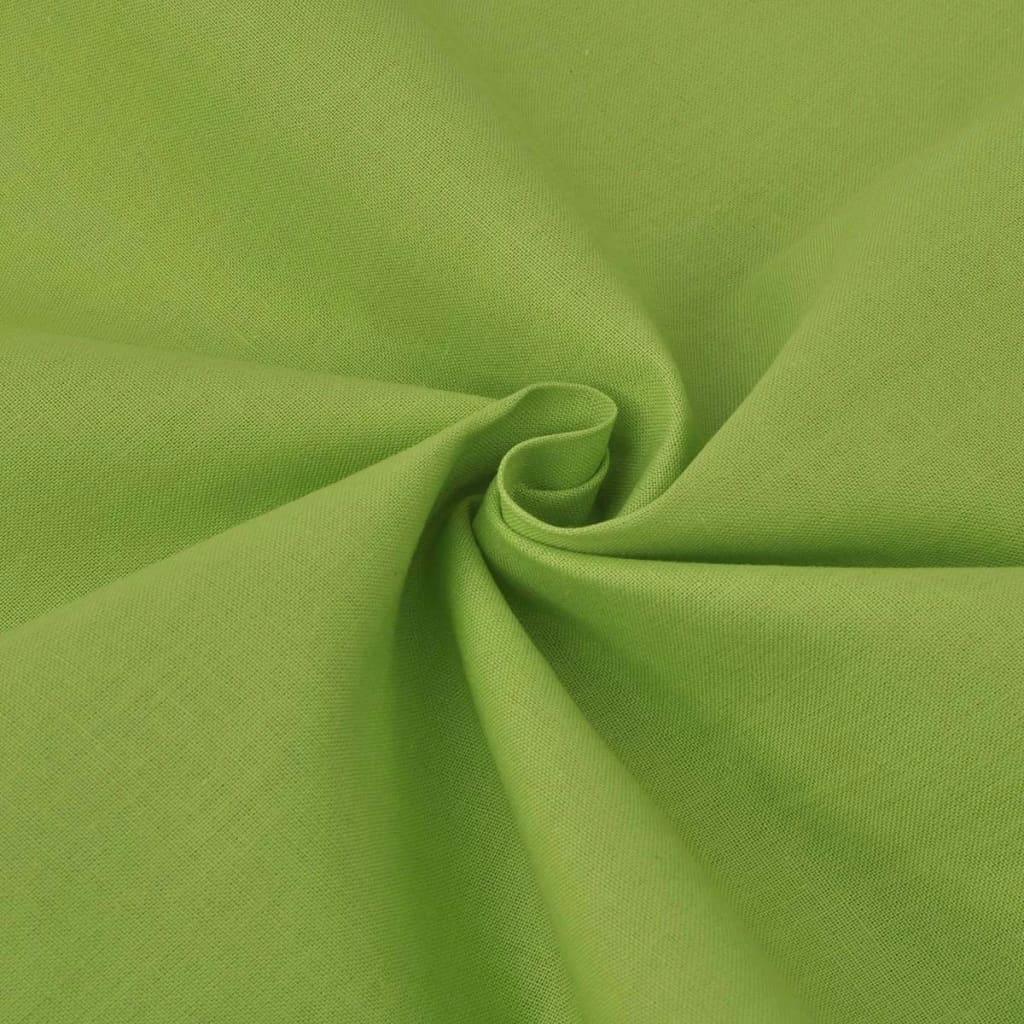 vidaXL Bomullsstoff 1,45x20 m grønn