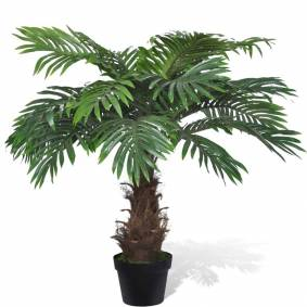 vidaXL Livaktige kunstig palmetre med potte 80 cm